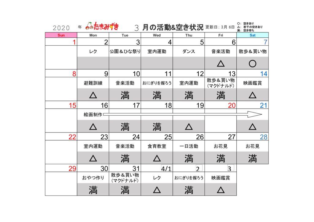 2020年活動&空き情報のサムネイル